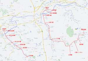 東濃鉄道は笠原線(左)と駄知線(右)の2線区あった