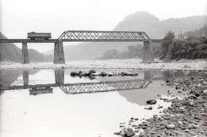 現役時代の北恵那鉄道木曽川橋梁 昭和52(1977)年8月24日撮影