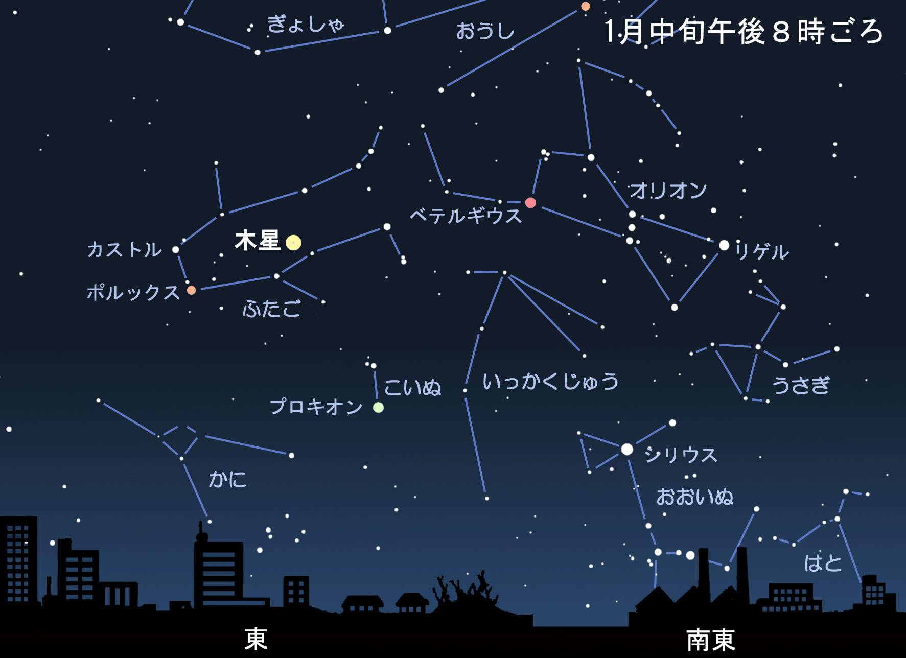 星 明るい 東 2020 の 空