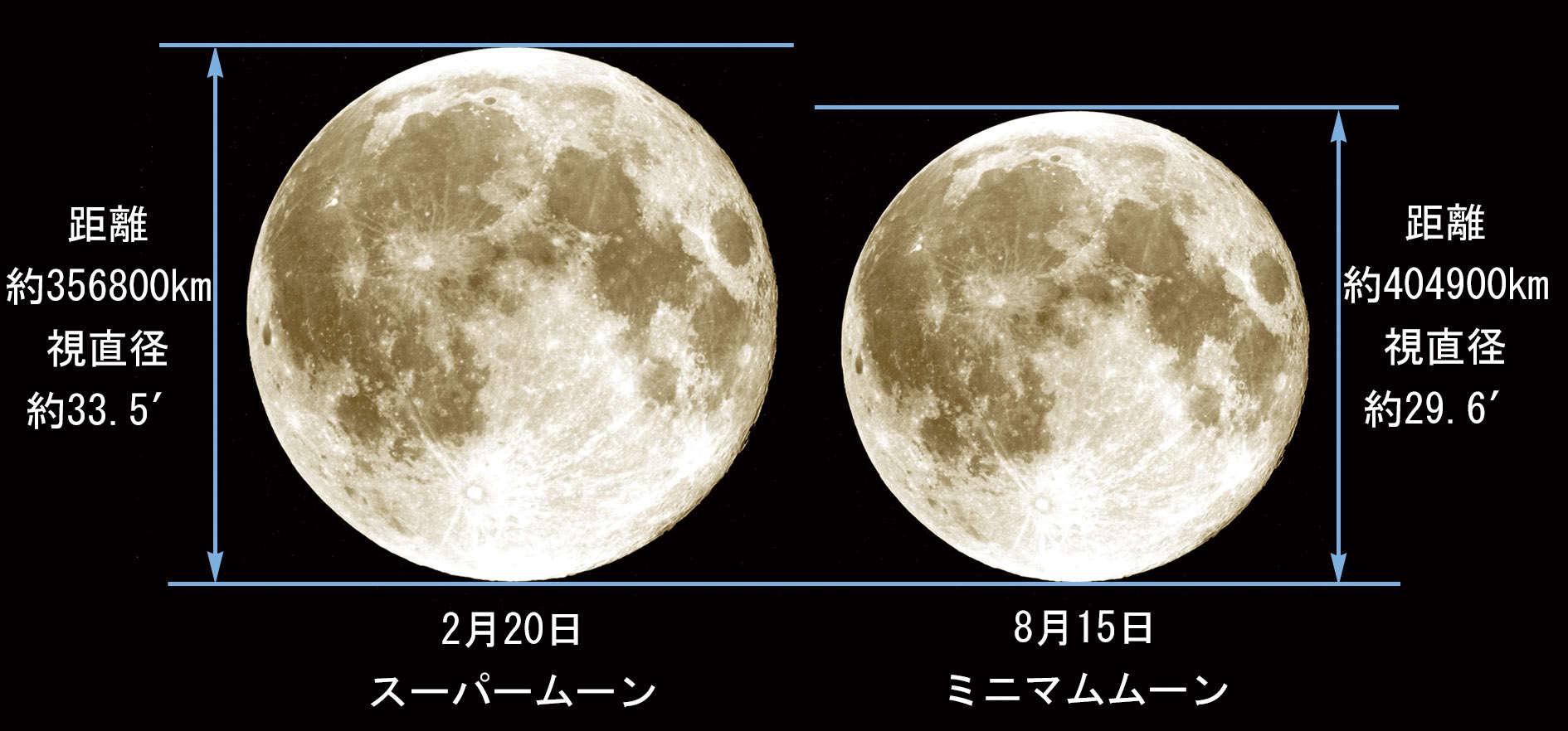 の 直径 月