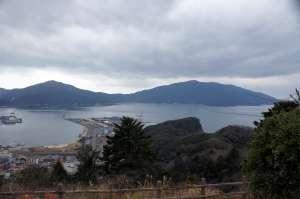 天筒山にある展望台からの眺望