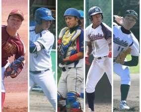 今回紹介するのはこの5選手!左から名城大・二宮、愛産大・高木、同朋大・上地、名院大・宮本、愛知淑徳大・森