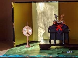 京甲冑・粟田口清信さん作の兜です。