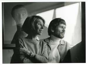 トーベ・ヤンソンとラルス・ヤンソン(1978年、撮影:ペール・ウロフ・ヤンソン)