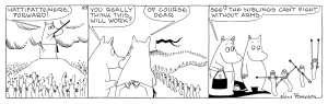 「MOOMINS IN BATTLE」原画 1974年